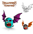 Halloween monsters freak bat eps10 file vector
