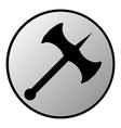 Battle axe button vector
