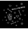 Background with skull vector