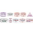 Various ship passport stamps vector