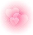 Light valentines background vector