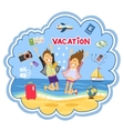 Vacation at the seaside vector