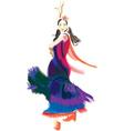 Flamenco dancer vector