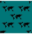 World map web icon flat design seamless gray vector