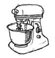 Scribble series - foodmixer vector