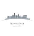 Providence rhode island city skyline silhouette vector