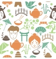 Seamless japanese pattern background vector