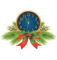 Christmas clocks vector