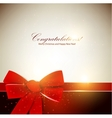 Holiday banner with red ribbons background vector
