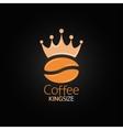 Coffee bean crown design menu background vector