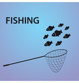 Small fish fishing eps10 vector