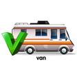 A letter v for van vector