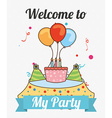 Welcome to my party vector