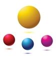 Blue ball isolated vector