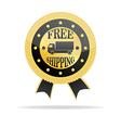Free shipping golden badge vector