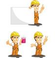 Industrial construction worker mascot 6 vector