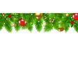 Christmas fir tree border vector