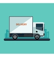 Flat design style delivery or cargo truck vector
