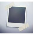 Retro polaroid photo frame vector