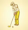 Golfist vector