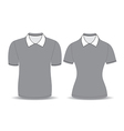 Gray polo shirt outline vector