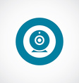 Web camera icon bold blue circle border vector