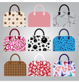 Nine types of lady colorful handbags eps10 vector