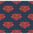 Seamless floral pattern with arabesque elements vector