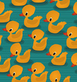 Baby ducks pattern vector