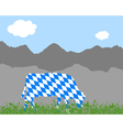 Cow alp and bavarian flag vector