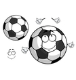 Cartoon football or soccer ball mascot vector