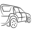 Suv design sketch vector