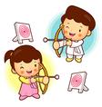 Archery games south korea children vector