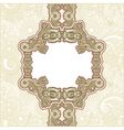 Ornate abstract flower background vector
