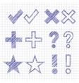 Hand drawn symbols vector