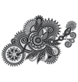 Grey ornamental floral adornment vector