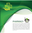 Pharmacy brochure vector