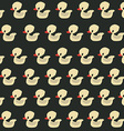 Seamless duck pattern vector