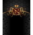 Gold vintage with heraldic elements - vector