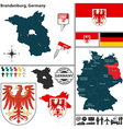 Map of brandenburg vector