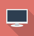 Computer monitor icon modern flat style with a vector