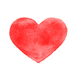 Red watercolor heart isolated vector