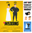 Funny glossy movie poster wedding invitation vector