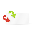 Red and green arrows and paper vector