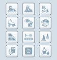 Inline skating icons - tech series vector