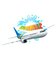 An airplane adventure for summer vector