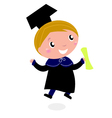 Graduation happy bachelor vector