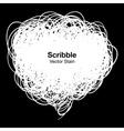 Scribble white bubble vector