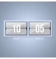 White clock icon background vector