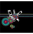 Grunge mobile phone art vector